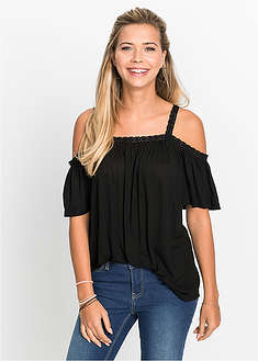 Shirt cold-shoulder z koronką-RAINBOW