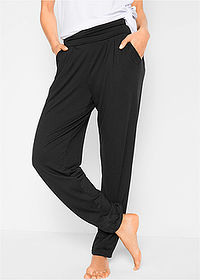 Pantaloni wellness largi, nivel 1 negru bpc bonprix collection 1