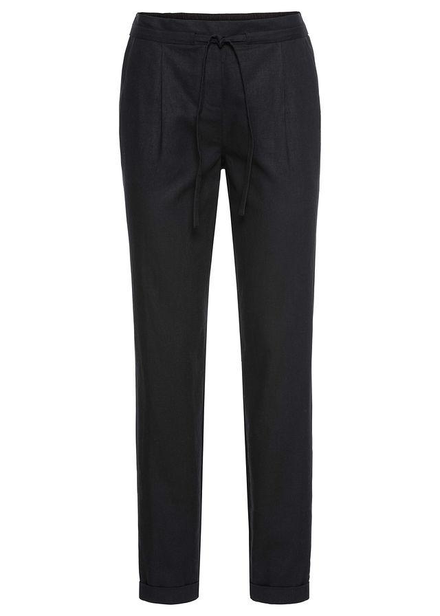 384ccd0c077d Plátené nohavice čierna Pohodlné ľanové • 21.99 € • bonprix