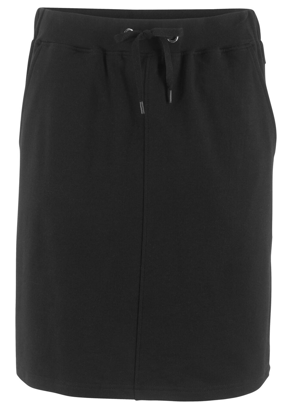 Spódniczka dresowa ze ściągaczem w talii bonprix czarny