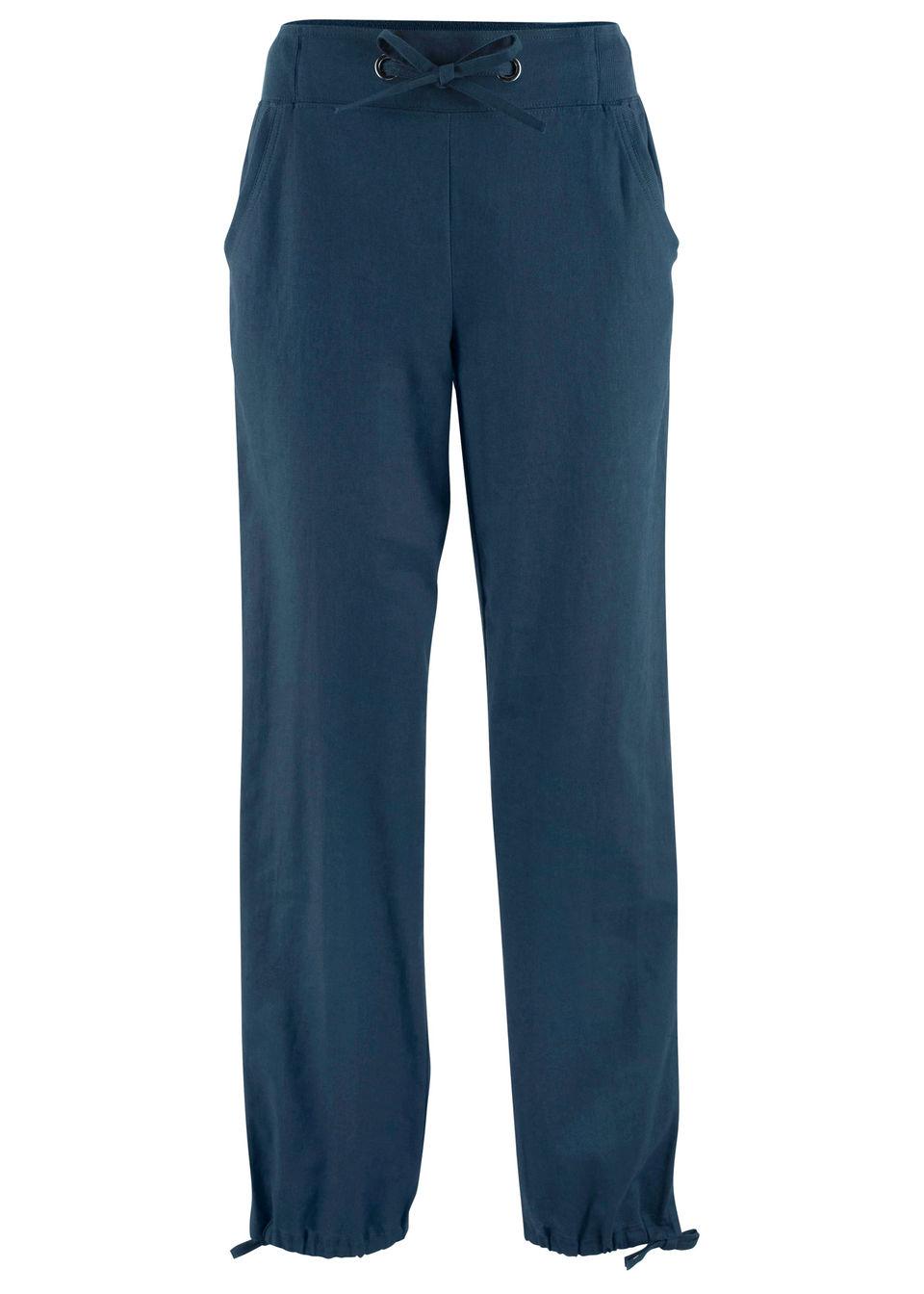 Льняные брюки с поясом в «резинку» от bonprix