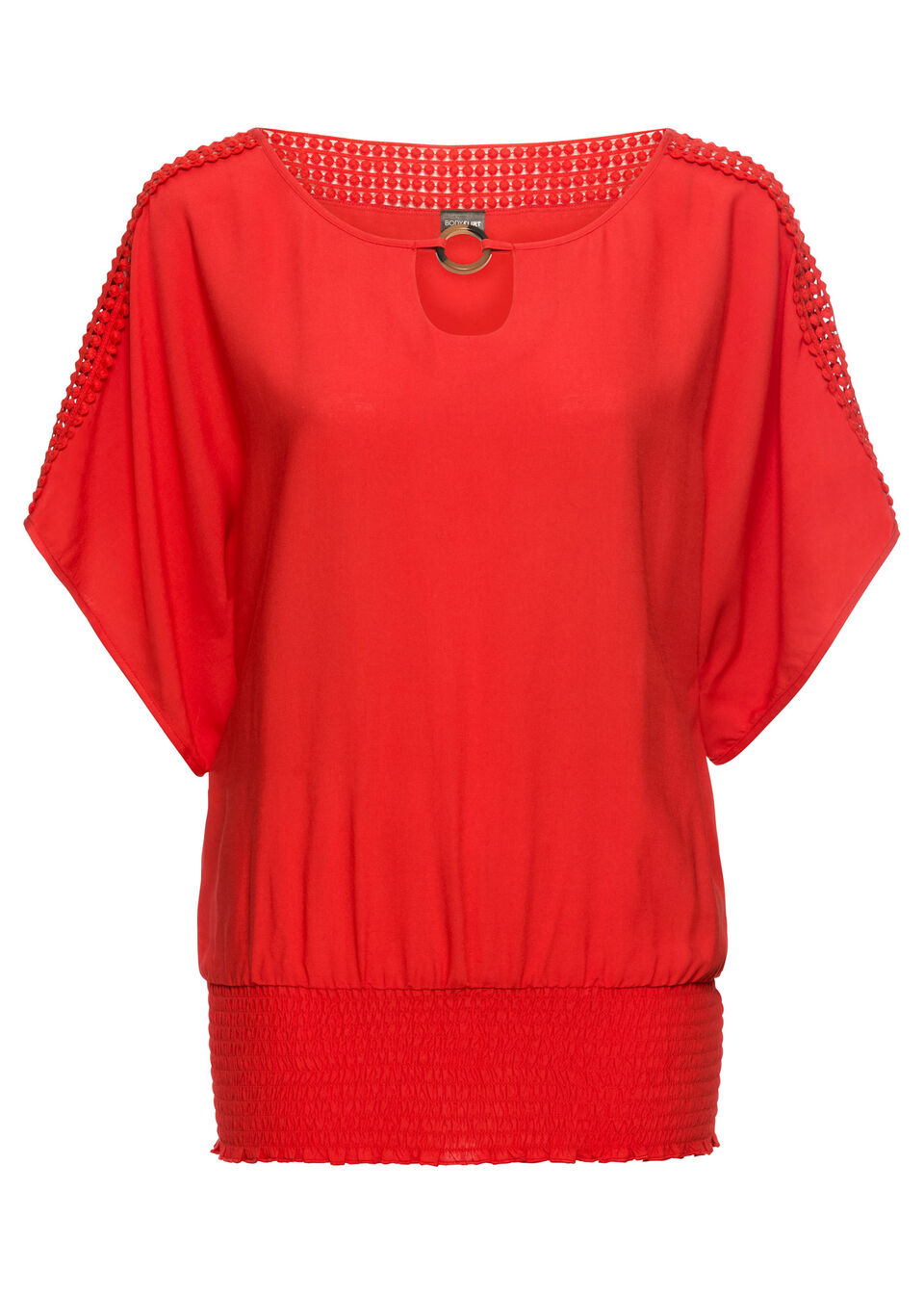 Блузка с кружевной отделкой от bonprix
