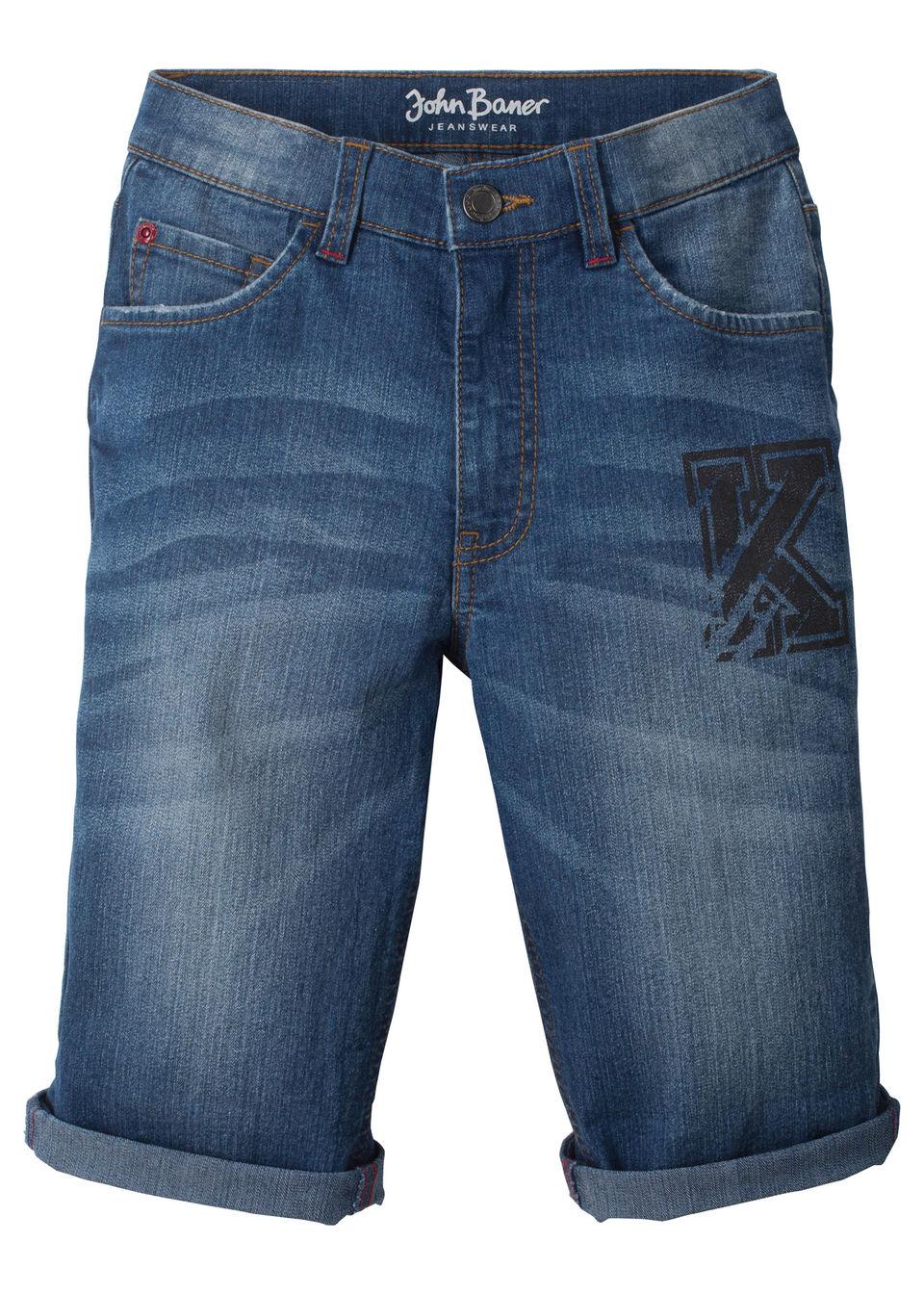 Бермуды джинсовые с отворотами от bonprix