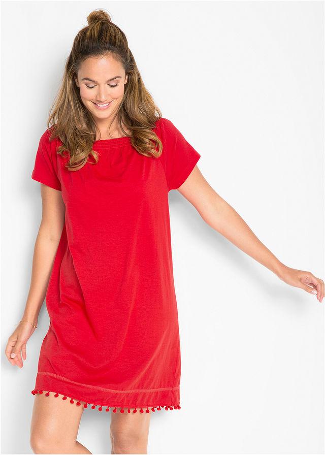 2d3fdd0c002 Úpletové šaty s výstrihom Carmen jahodová • 9.99 € • bonprix
