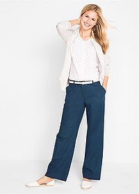Pantaloni in, largi bleumarin bpc bonprix collection 3