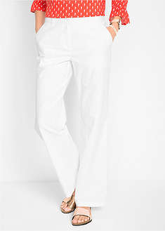 Pantaloni din in, largi-bpc bonprix collection