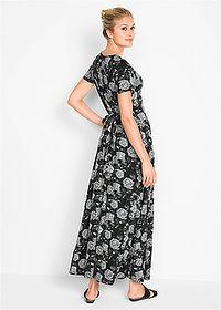 8d123df127 Długa sukienka z krótkim rękawem • czarny w kwiaty • bonprix sklep. Ten  produkt był oglądany 615 razy w ciągu 24h