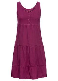 aefdd9b4bc8ecd Sukienka shirtowa jeżynowy W dekolcie • 89.99 zł • bonprix