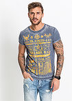 Tricou Slim Fit albastru RAINBOW 10