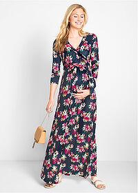 994166a3fd Sukienka shirtowa ciążowa i do karmienia piersią niebieski w kwiaty ...