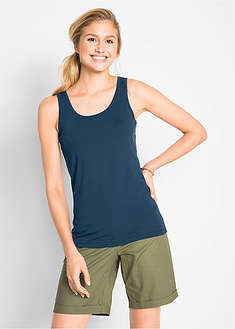 Tank top ze stretchem (2 szt. w opak.) bpc bonprix collection 4