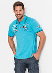 Tricou polo regular fit albastru caraibic bpc selection 5