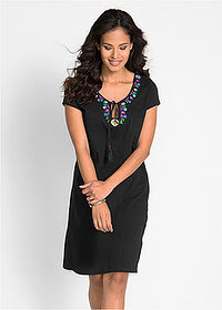 75526af19 Úpletové šaty z vypaľovaného vlákna • čierna • bonprix obchod. 897