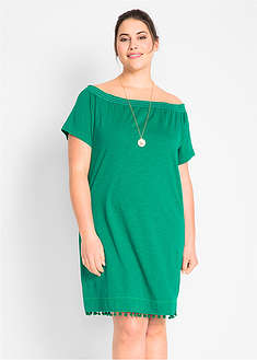 Úpletové šaty s výstrihom Carmen-bpc bonprix collection 667ecaee5c