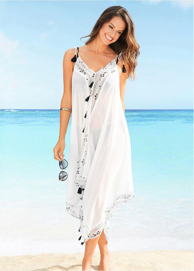 9a2fdda81514 Plážové šaty biela čierna potlačená • 27.99 € • bonprix