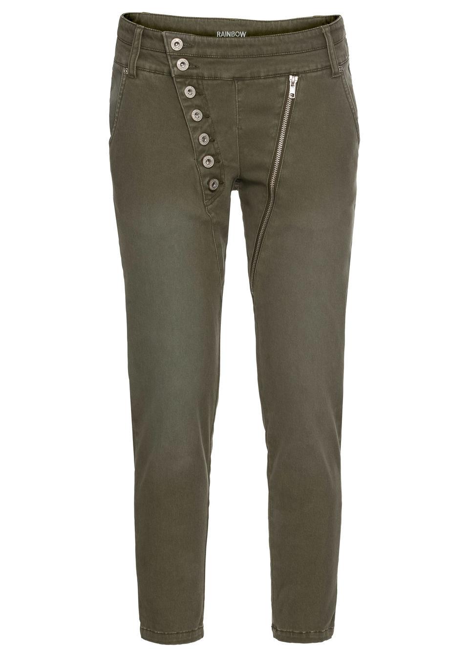 Pantaloni 7/8, bandă de nasturi asimetrică bonprix