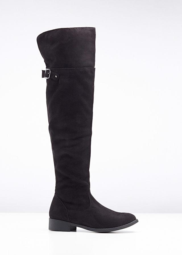 Čižmy nad kolená čierna Moderné a vkusné • 34.99 € • bonprix 4a8bac12f65