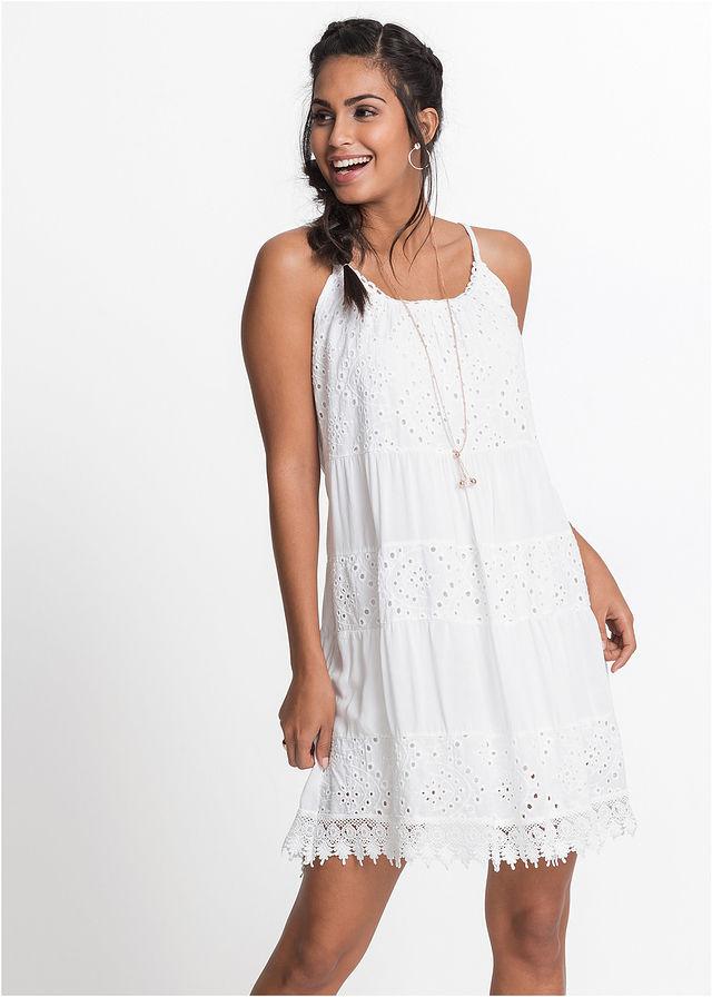 d6fd3887304f Letné šaty s čipkou biela Pekné letné • 34.99 € • bonprix