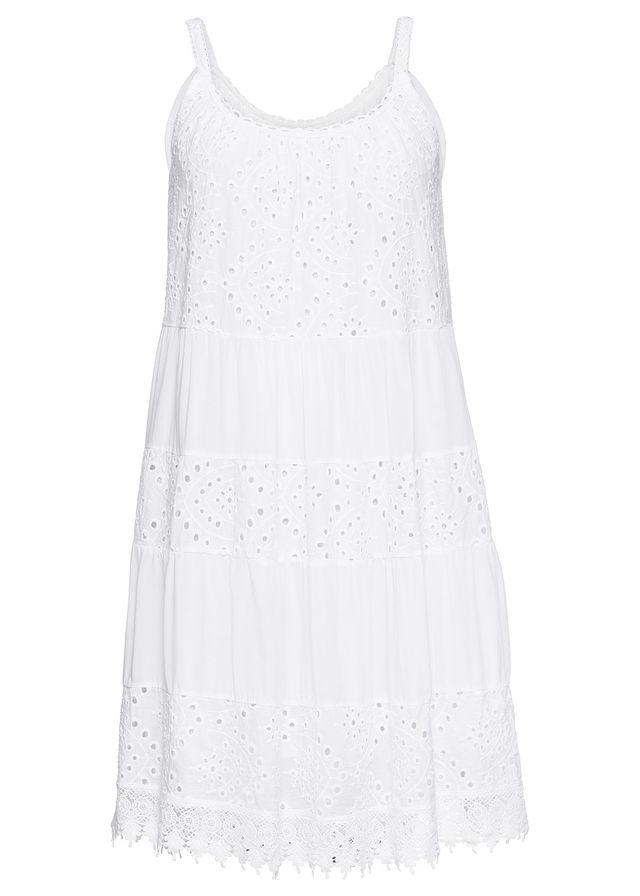 3050b22a2bc13d Sukienka z koronką biały Piękna letnia • 149.99 zł • bonprix