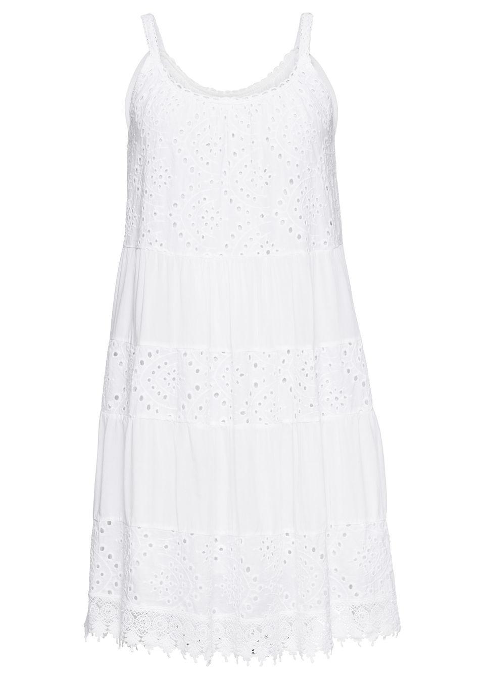 Купить Летнее платье с кружевом, bonprix, белый