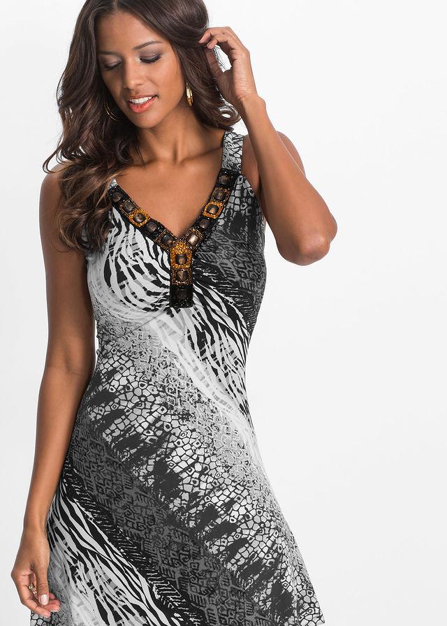 12568f53047c Letné šaty čierna biela vzorovaná • 24.99 € • bonprix