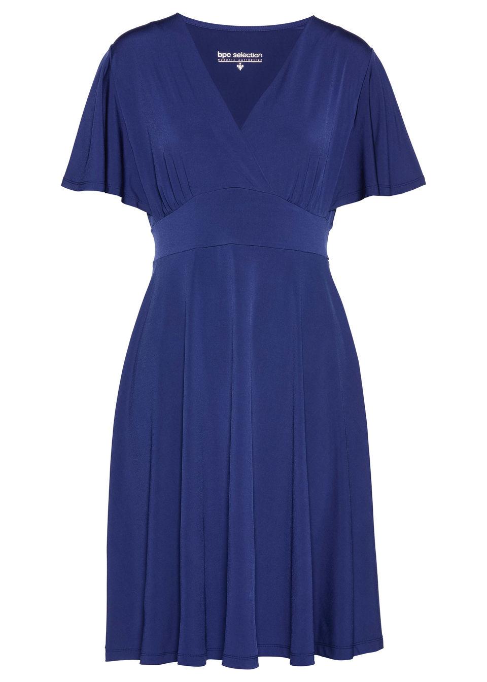 Sukienka shirtowa bonprix kobaltowy