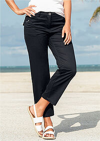 Pantaloni 7/8 cu stretch negru bpc bonprix collection 6
