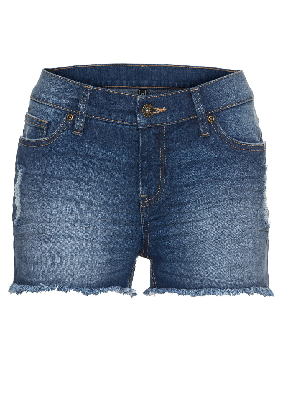Купить Шорты джинсовые, bonprix, синий «потертый»