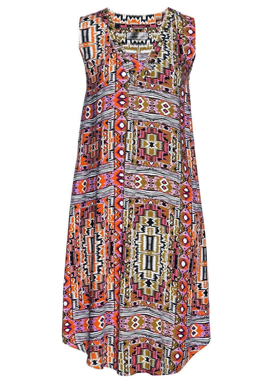 Купить Платье из вискозы, bonprix, хаки с рисунком