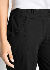 Pantaloni stretch 7/8 negru bpc bonprix collection 5