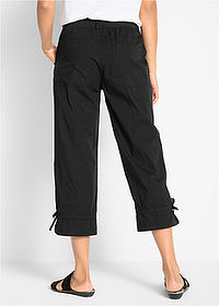 Pantaloni stretch 7/8 negru bpc bonprix collection 2