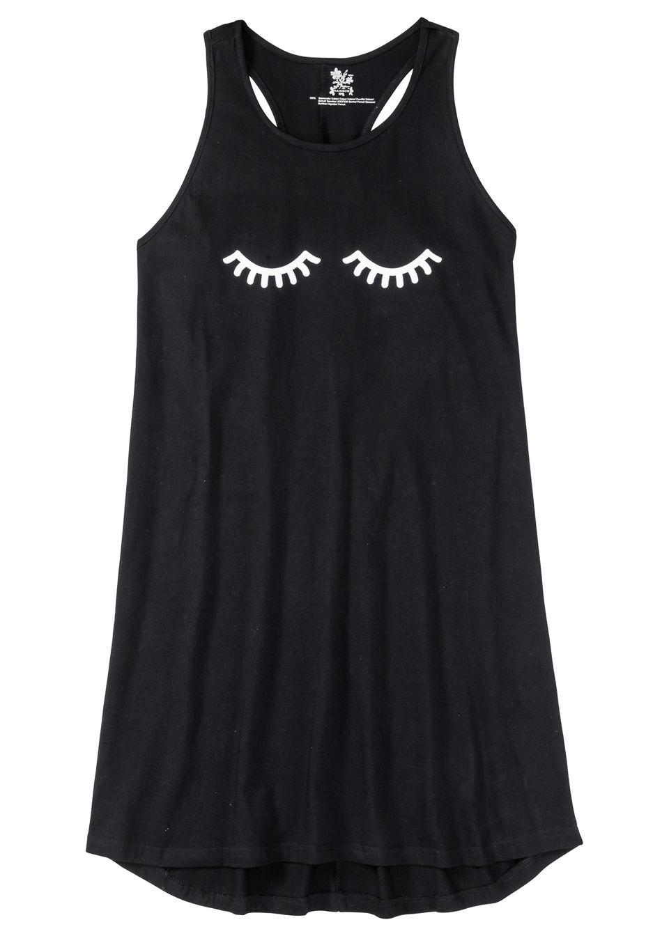 Купить Ночная рубашка со спортивной спинкой, bonprix, черный