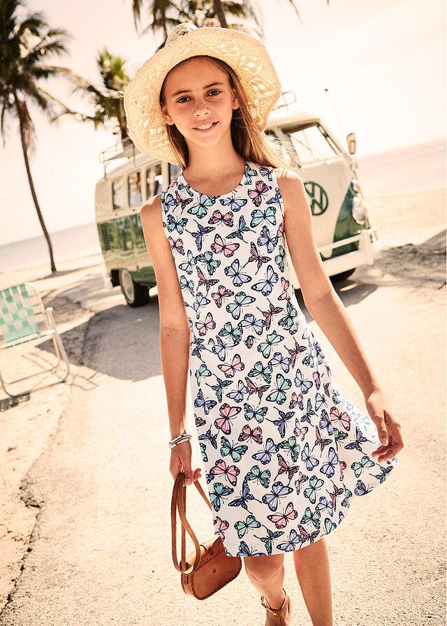 57ee59699f Sukienka dziewczęca z nadrukiem w motyle • bladoróżowy z nadrukiem •  bonprix sklep