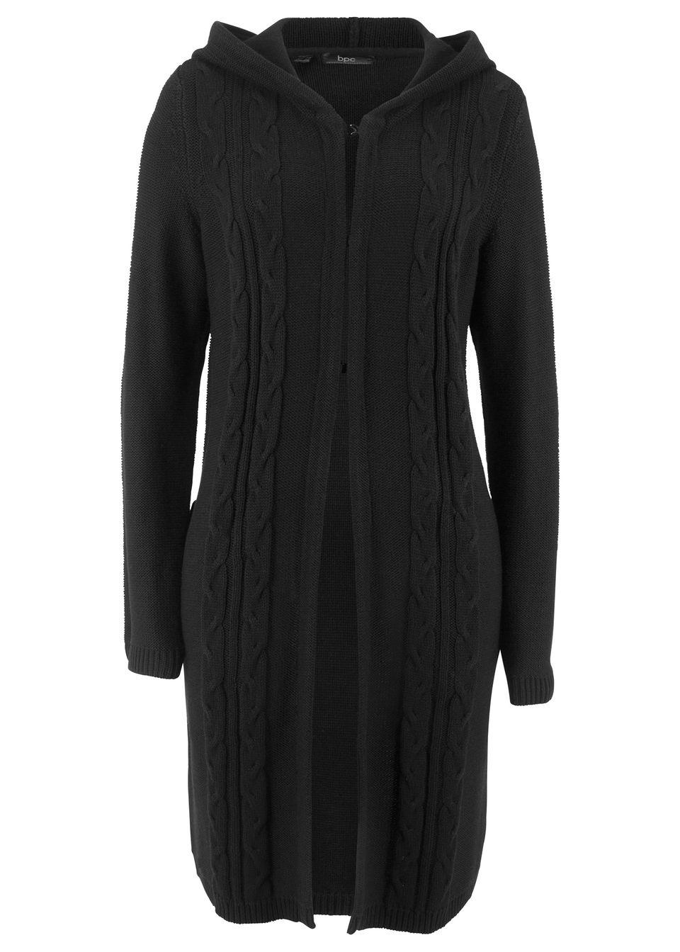 Jachetă lungă tricotată cu glugă bonprix de la bpc bonprix collection