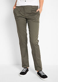 Pantaloni chino stretch oliv închis bpc bonprix collection 1