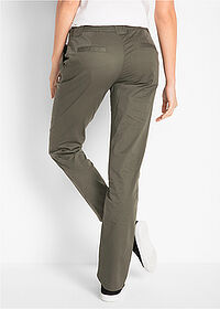 Pantaloni chino stretch oliv închis bpc bonprix collection 2