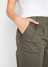Pantaloni chino stretch oliv închis bpc bonprix collection 4