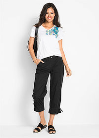 Pantaloni stretch 7/8 negru bpc bonprix collection 3