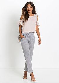 ad0260a91681 Ľanové nohavice • modrá biela pásikovaná • bonprix obchod. Tento produkt má  47 zhliadnutí v priebehu 24 h