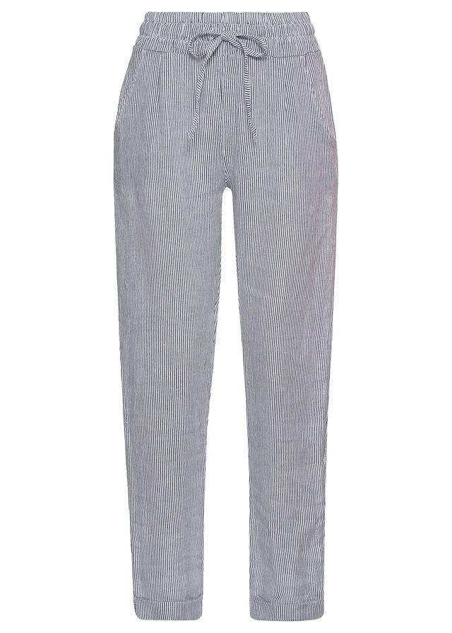 e77ad1334726 Ľanové nohavice modrá biela pásikovaná • 29.99 € • bonprix