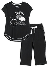 Pijama capri negru/alb bpc bonprix collection 0
