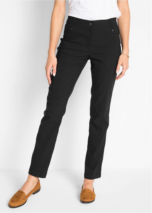 5ce61ac1ecc Узкие брюки из бенгалина в стиле «5 карманов» • черный • bonprix магазин