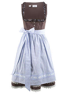 bad0a9ab1 Dirndl šaty s vyšívanou zásterou purpurová vzorovaná • 99.99 € • bonprix