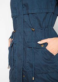 Pamut parka kabát dzsörzé béléssel sötétkék • 15999.0 Ft