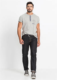 Dżinsy Regular Fit Straight czarny John Baner JEANSWEAR 4