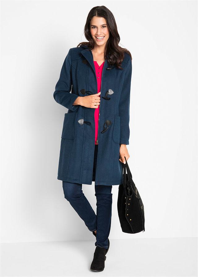 Vlnený kabát tmavomodrá Dĺžka vo • 59.99 € • bonprix e01444be5c6
