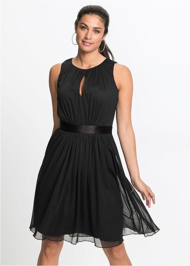 df24837d52 Sukienka czarny Sukienka z satynowym • 129.99 zł • bonprix