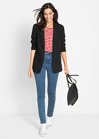 Blazer lung negru bpc bonprix collection 3