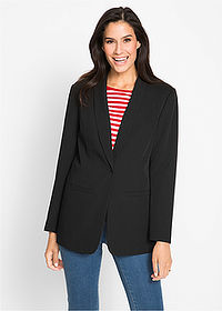 Blazer lung negru bpc bonprix collection 1