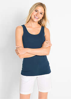 Tank top ze stretchem (2 szt. w opak.) bpc bonprix collection 5